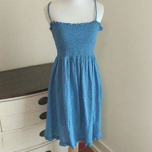 Blue bathing suit cover up or summer dress